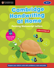 Cambridge Handwriting At Home Forming Manuscript Letters