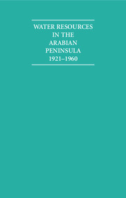 Water Resources in the Arabian Peninsula 1921–1960