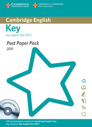 Past Paper Pack for Cambridge English: Key 2011
