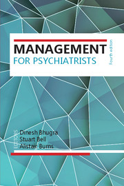 Management for Psychiatrists