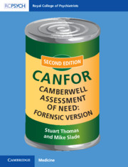 Camberwell Assessment of Need: Forensic Version