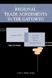Regional Trade Agreements in the GATT/WTO