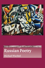 The Cambridge Introduction to Russian Poetry