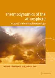 Thermodynamics of the Atmosphere