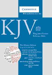 KJV Pitt Minion Reference Edition, R182 Burgundy Bonded Leather