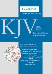 KJV Pitt Minion Reference Edition, R183 Black French Morocco Leather