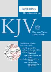 KJV Pitt Minion Reference Edition, R186 Brown Goatskin Leather