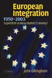 European Integration, 1950–2003
