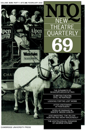 New Theatre Quarterly 69