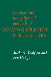 Physical and Non-Physical Methods of Solving Crystal Structures