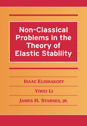 Non-Classical Problems in the Theory of Elastic Stability