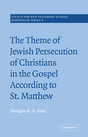 The Theme of Jewish Persecution of Christians in the Gospel According to St Matthew