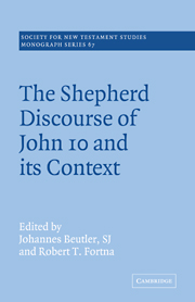 The Shepherd Discourse of John 10 and its Context
