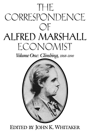 The Correspondence of Alfred Marshall, Economist