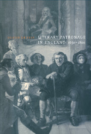 Literary Patronage in England, 1650–1800