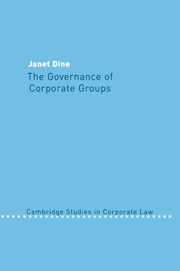 The Governance of Corporate Groups