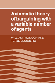 Axiomatic Theory of Bargaining with a Variable Number of Agents