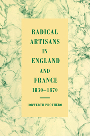 Radical Artisans in England and France, 1830–1870
