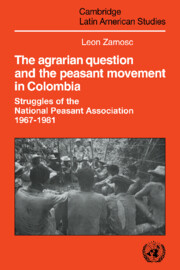 The Agrarian Question and the Peasant Movement in Colombia