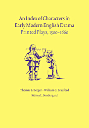 An Index of Characters in Early Modern English Drama