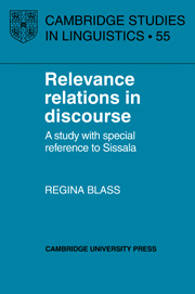 Relevance Relations in Discourse