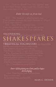 Recovering Shakespeare's Theatrical Vocabulary