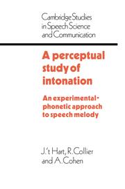 a perceptual study of intonation cohen a hart j t collier r