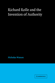 Richard Rolle and the Invention of Authority