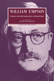 William Empson: Essays on Renaissance Literature