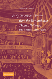 Early American Theatre from the Revolution to Thomas Jefferson