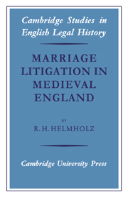 Marriage Litigation in Medieval England