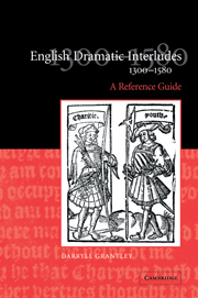 English Dramatic Interludes, 1300–1580