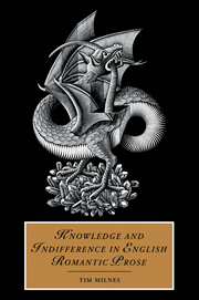 Knowledge and Indifference in English Romantic Prose