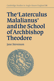 The 'Laterculus Malalianus' and the School of Archbishop Theodore