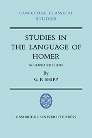 Studies in The Language of Homer