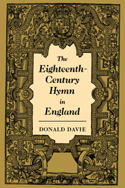 The Eighteenth-Century Hymn in England