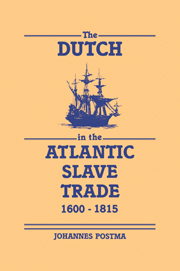 The Dutch in the Atlantic Slave Trade, 1600–1815