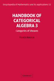 Handbook of Categorical Algebra