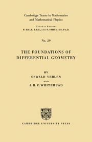 The Foundations of Differential Geometry