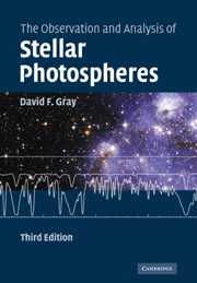 The Observation and Analysis of Stellar Photospheres