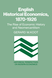 English Historical Economics, 1870–1926