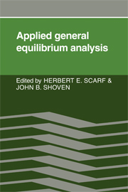 Applied General Equilibrium Analysis