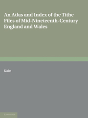 An Atlas and Index of the Tithe Files of Mid-Nineteenth-Century England and Wales