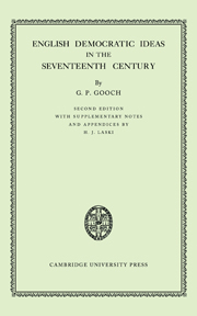 English Democratic Ideas in the Seventeenth Century