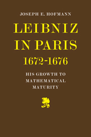 Leibniz in Paris 1672-1676