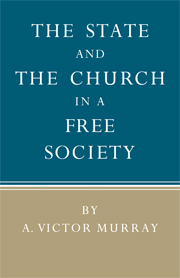 The State and the Church in a Free Society
