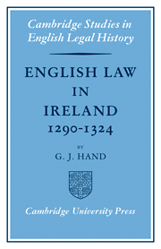 English Law in Ireland 1290–1324