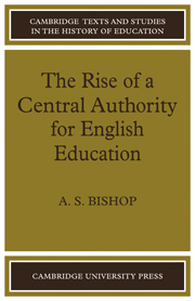 The Rise of a Central Authority for English Education