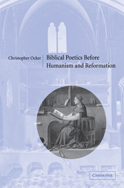 Biblical Poetics before Humanism and Reformation