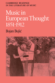 Music in European Thought 1851–1912